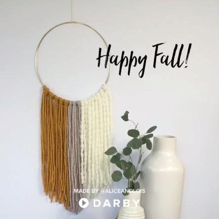 Photo of Modern Fall Wall Hanging