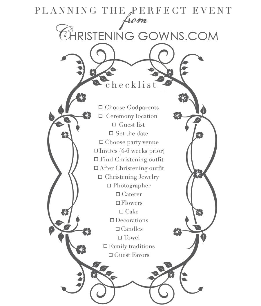 Christening Event Planning