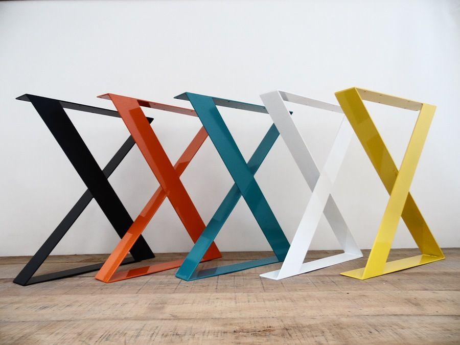 Image Of 28 X Frame Wide Flat Steel Table Legs 24 Width Base