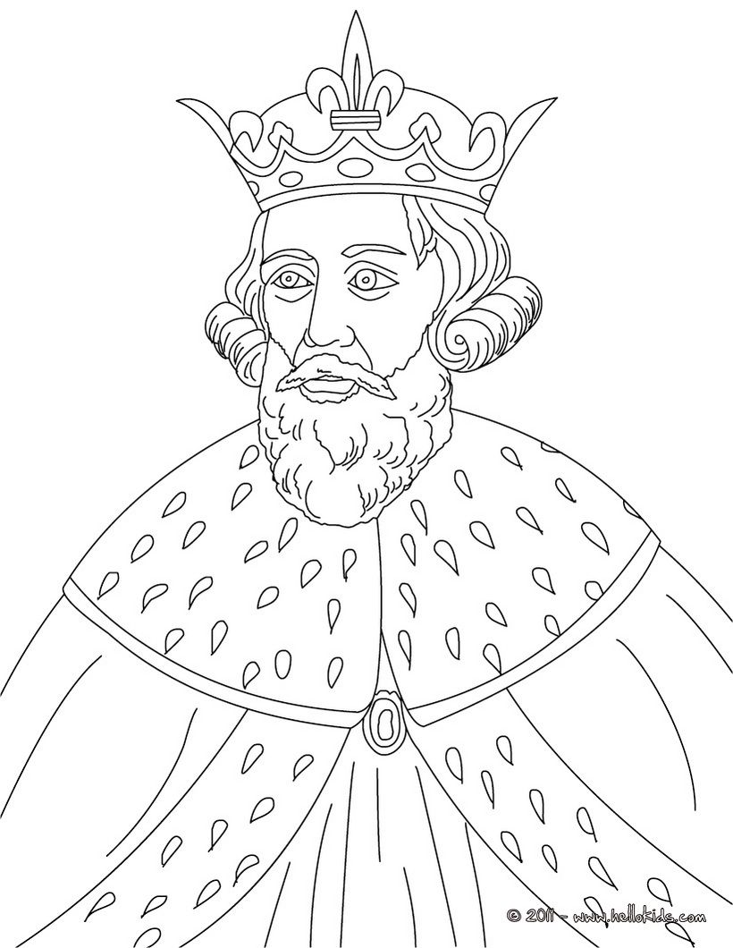 British Kings And Princes Colouring Pages King Alfred The Great King Drawing Alfred The Great People Coloring Pages