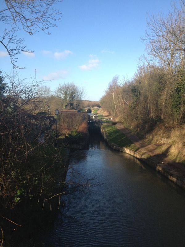 View of the stream running through Worksop