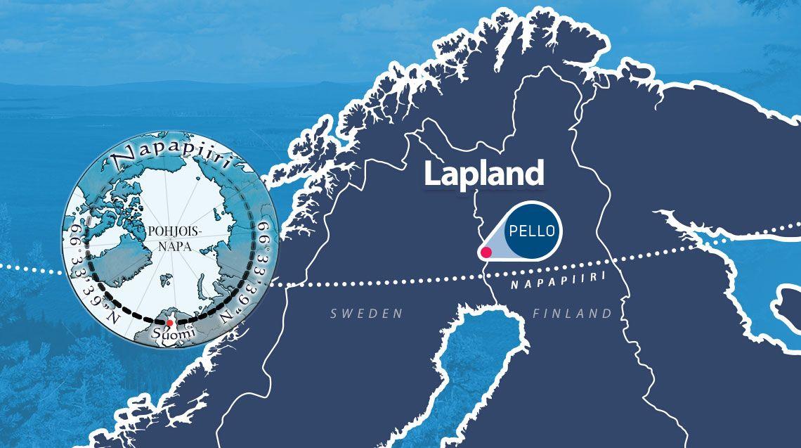 Napapiiri Artic Circle Kartta Lapland Finland Arctic Circle