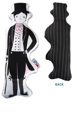 Ladies, get your very own Mr. Darcy! Mr. Darcy Stuffed Canvas Character, $15 | http://www.babylit.com/shop-characters/shop-characters-darcy/#