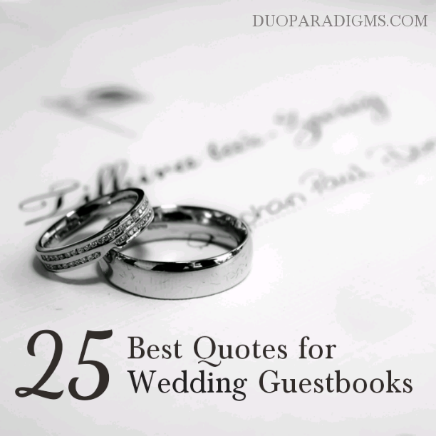 The 25 Best Quotes for Custom Wedding Guestbooks | Wedding ...