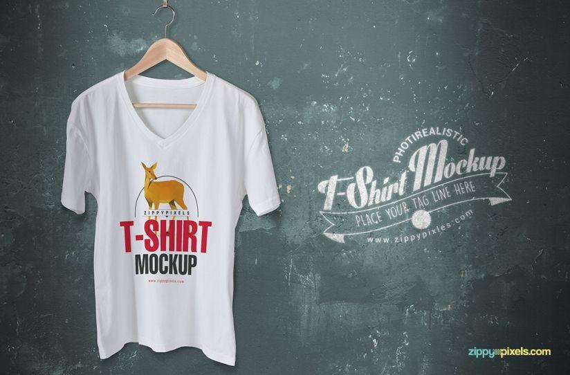 Download Trendy Free V Neck T Shirt Mockup Zippypixels Shirt Mockup Tshirt Mockup Clothing Mockup