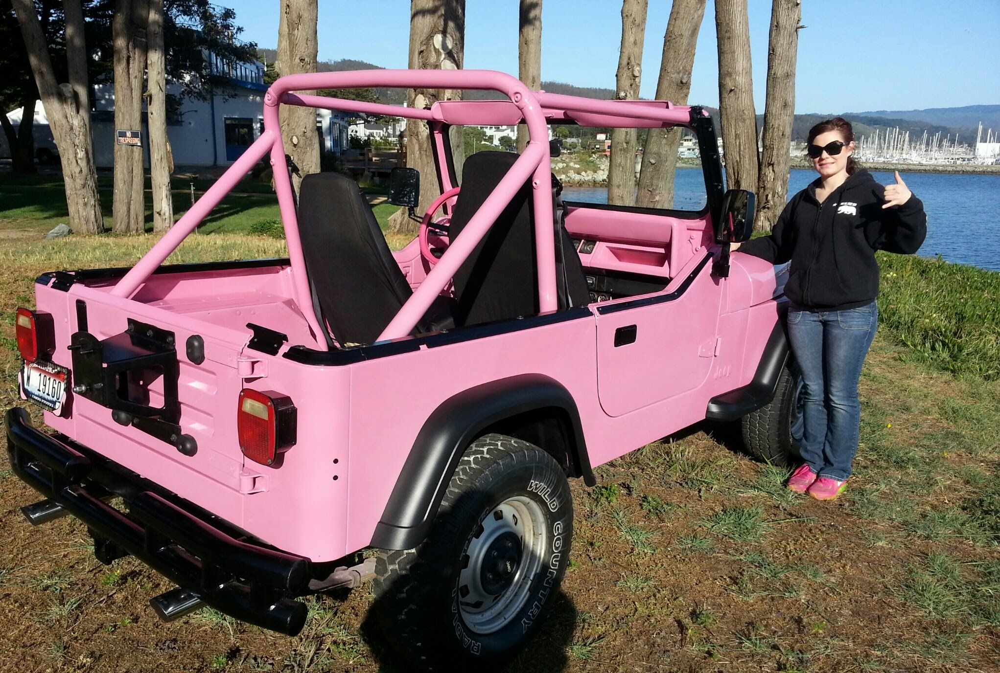 Pink Yj Jeep Google Search Pink Jeep Pink Jeep Wrangler Jeep Wrangler