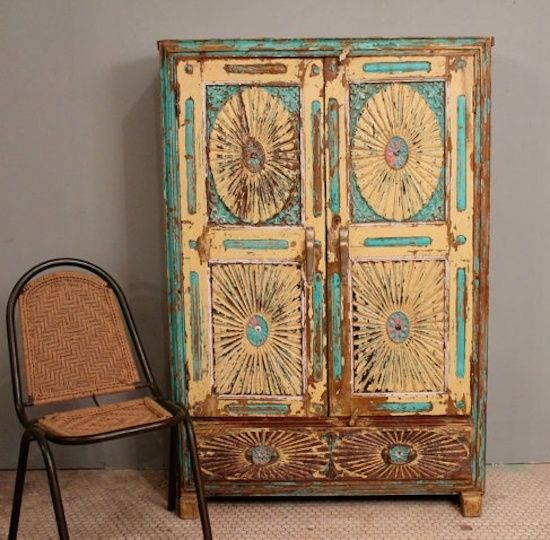 Distressed Bedroom Sets Bedroom Cupboards With Mirror Sliding Doors Bedroom Colour As Per Vastu Shabby Chic Bedroom Sets: Antique Distressed Rustic Hand Carved Bright Turquoise