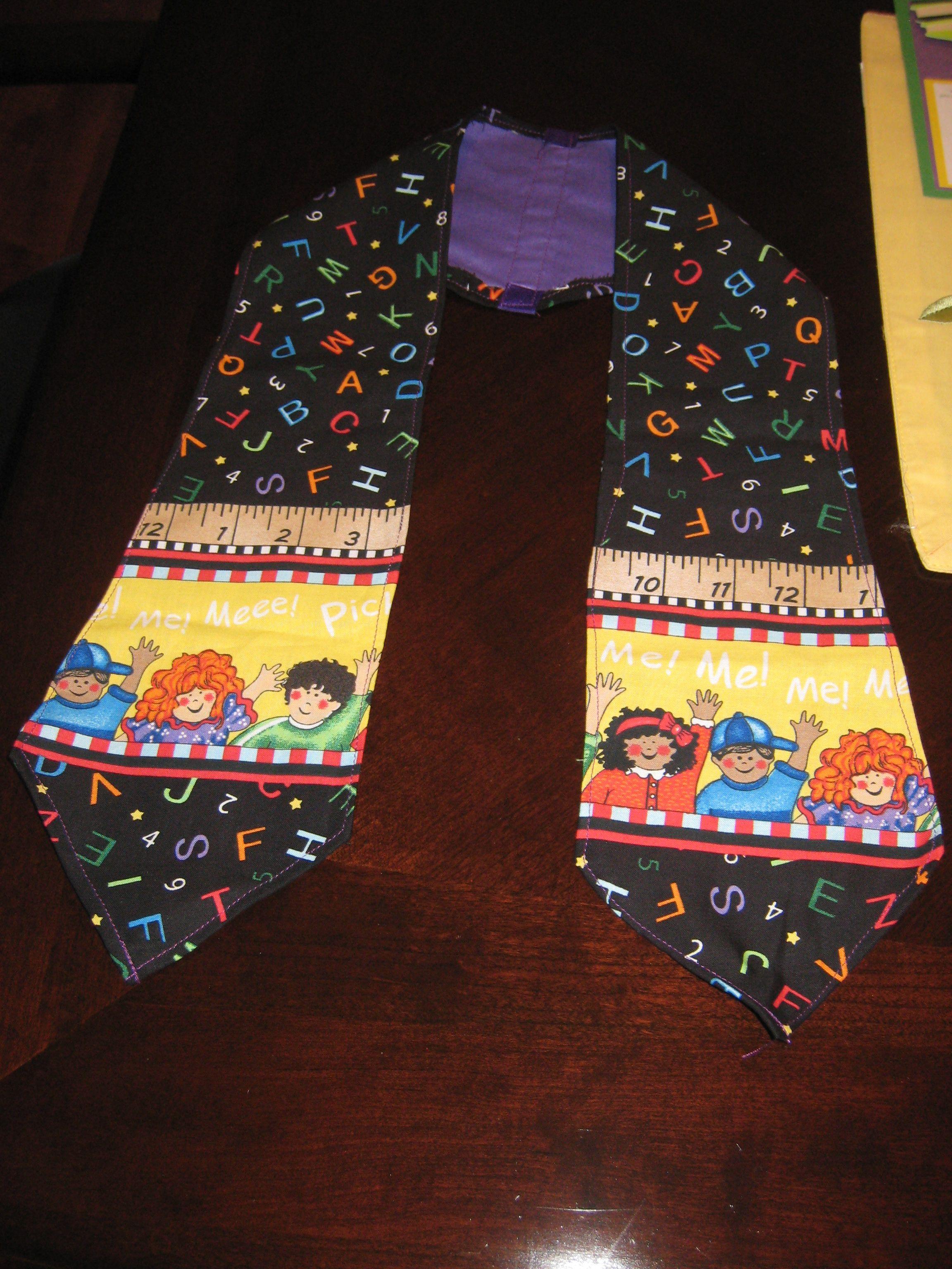 custom kindergarten    preschool graduation stoles