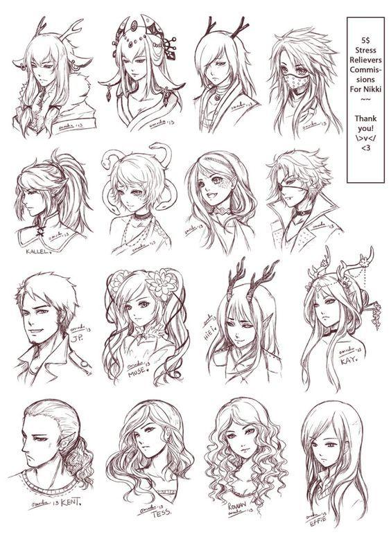 Manga Coupe De Cheveux 2 Dessin De Cheveux Cheveux Dessin Coiffures Manga
