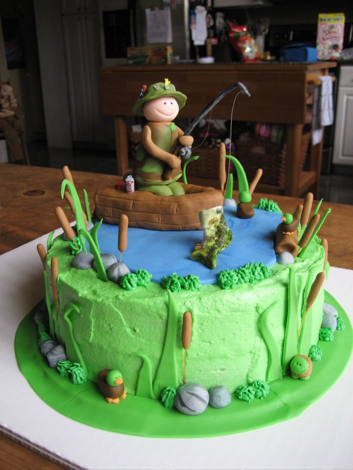 fishing birthday cakes on pinterest
