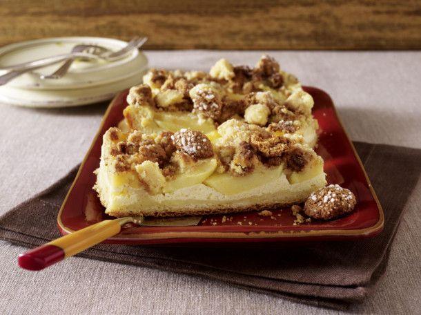 Apfel-Vanillecreme-Kuchen mit Amarettini-Streusel Rezept Kuchen