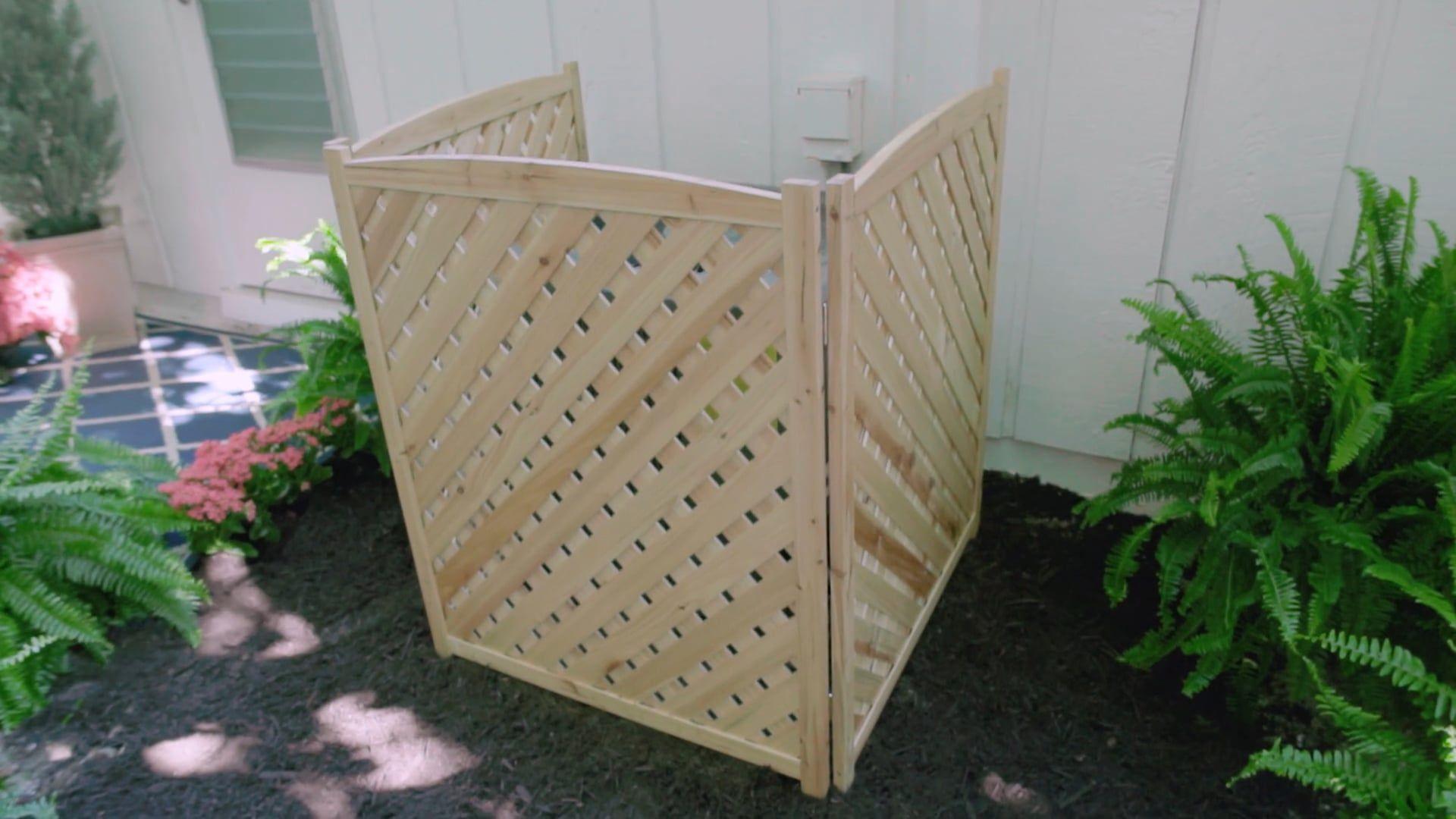 wood lattice air conditioner screens febmar fl