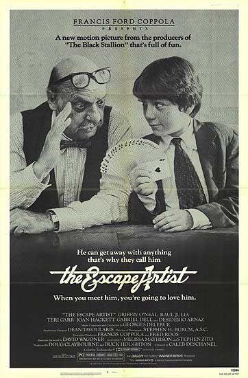 The Escape Artist 1982 Cartaz