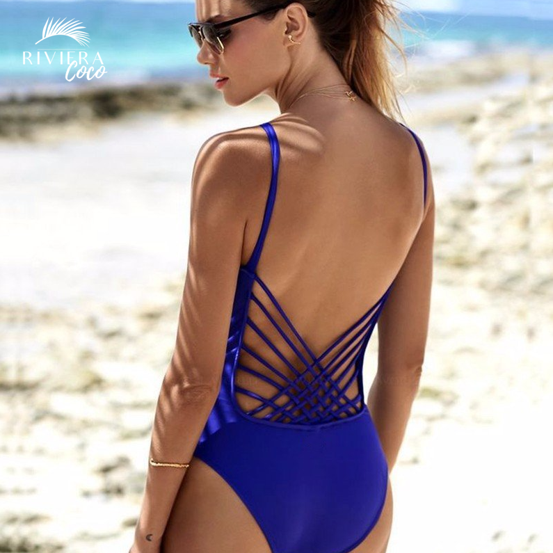 Fantastic Electric Blue Monokini Cly Design Corsica One Piece Swimsuit Riviera Coco Beach Trends