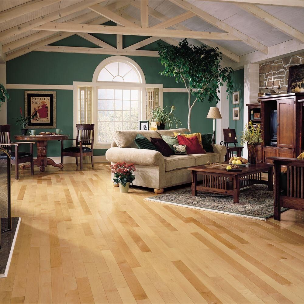 Bruce Natural Maple 3 4 In Thick X 2 1 4 In Wide X Varying Length Solid Hardwood Flooring 20 Sq Ft Case Ahs4010 The Home Depot Hardwood Floors Solid Hardwood Floors Flooring