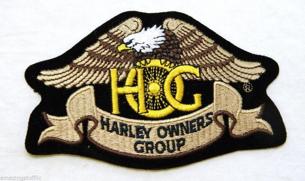 5 Harley Davidson Motorcycles Hog Owners Group Iron On Jacket Vest