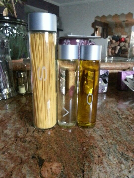 5a82063539 VOSS glass bottles.Scrape off the letters and there you go...   DIY ...