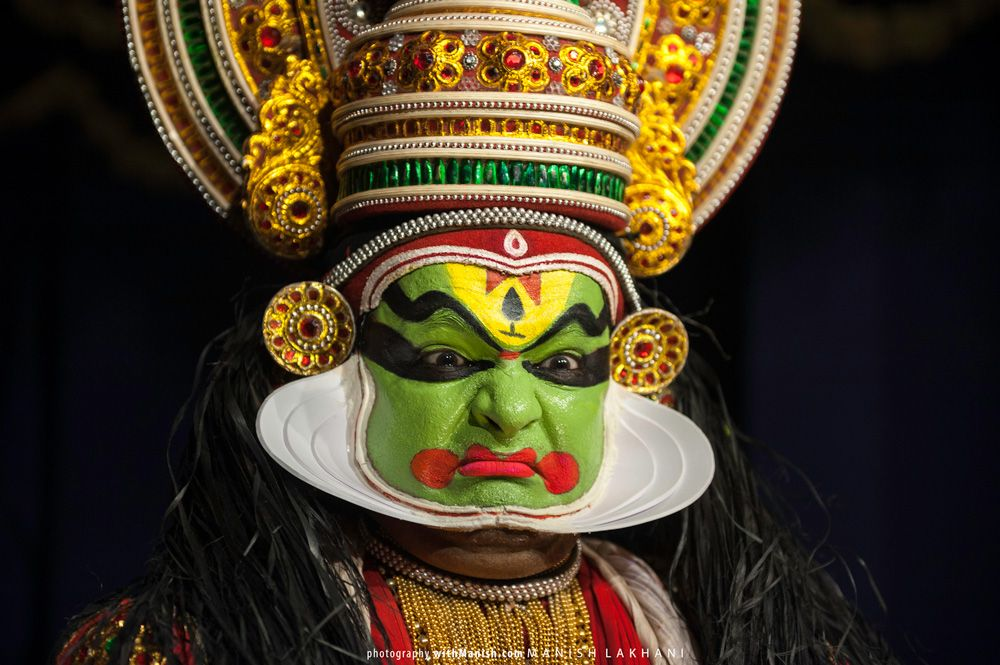 Kathakali Example 8 | Makeup for the Stage in 2019 | Facial