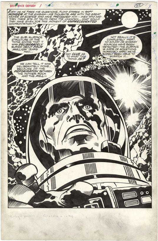 Jack Kirby, 2001 A Space Odyssey, Treasury Edition, Page 25. #JackKirby