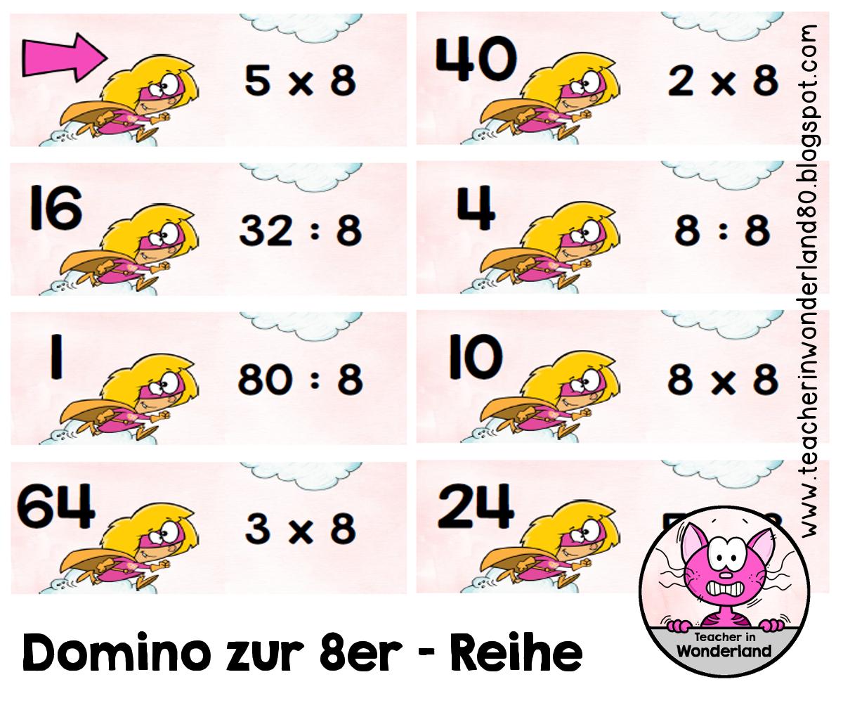 teacher in wonderland multiplikation und division domino