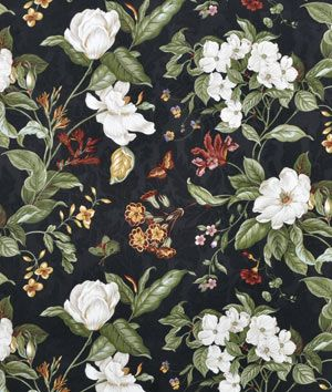 Waverly Garden Images Black Fabric Floral Upholstery Fabric Fabric Decor Floral Upholstery