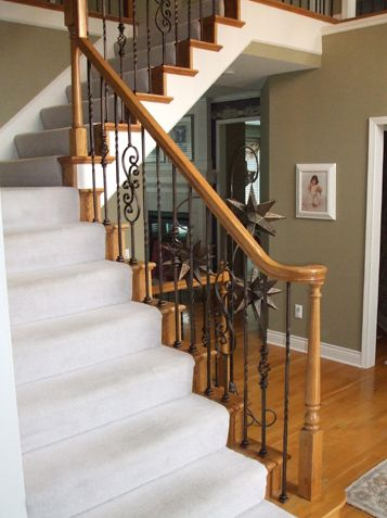 Best Iron Spindle Replacement Staircase Transformation Iron 400 x 300