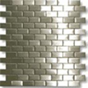Builderelements Com Ssm005 Silver Wall Stainless Steel Tile Stainless Steel Mosaic Metal Tile Metal M Stainless Steel Tile Metal Tile Metal Mosaic Tiles