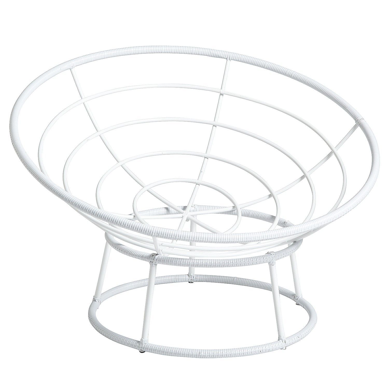 Outdoor White Papasan Chair | Pinterest | Bedroom retreat ...