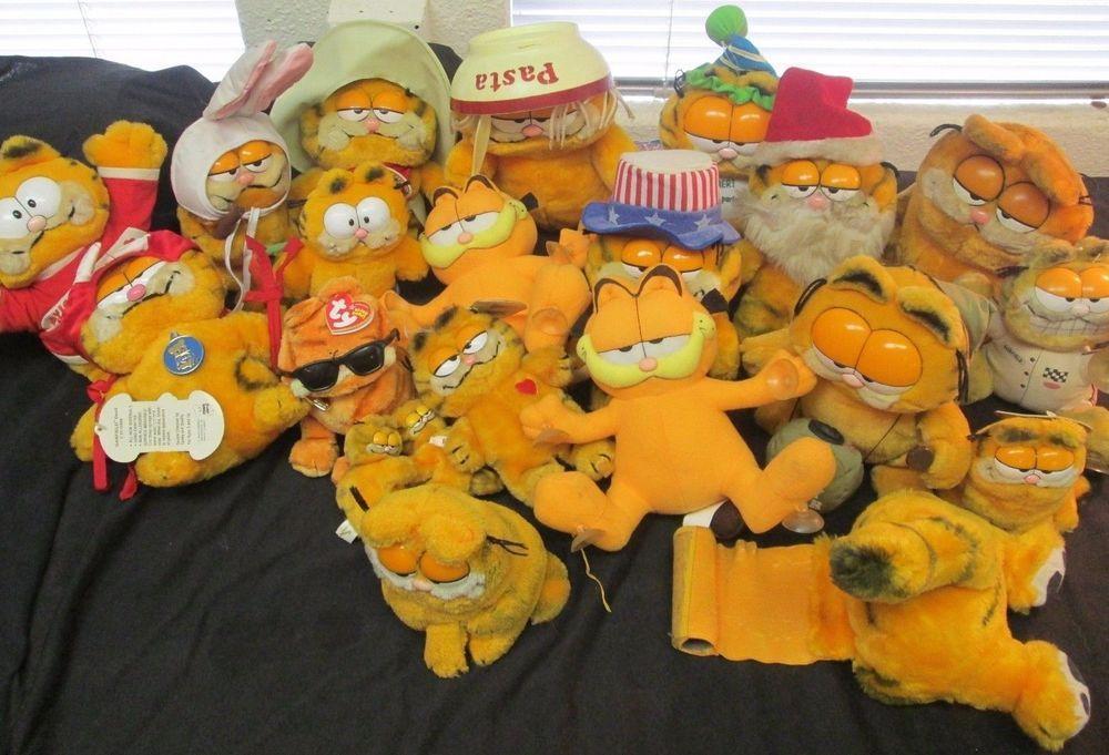 Garfield Cat Collection Of 21 Dakin Ty Stuffed Plush Animal Toys Dakin Cat Plush Animal Plush Toys Garfield Cat