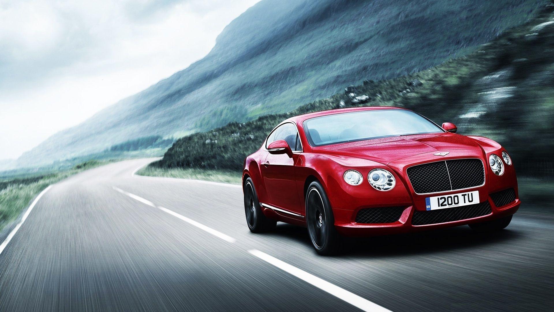 Red Bentley Car Hd Desktop Wallpaper Wallpapers For You Bentley