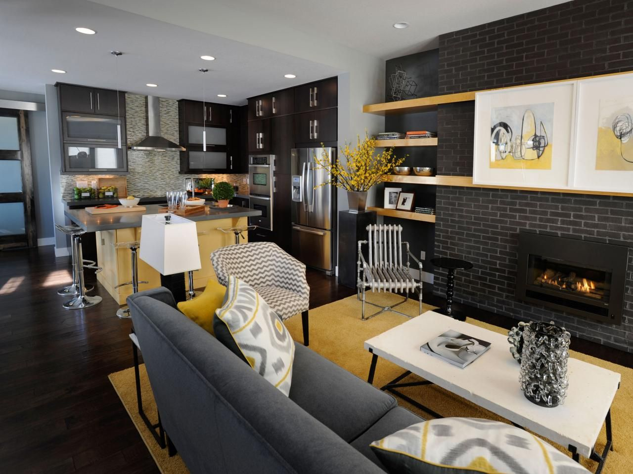 40 Magnificent Living Room And Kitchen Photo Decortez Living Room Dining Room Combo Small Modern Living Room Narrow Living Room