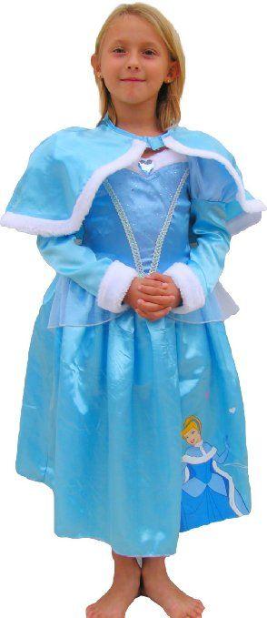 59e3319b56d2 DISNEY PRINCESS Cinderella Deluxe (Winter Wonderland) - Kids Costume 7 - 8  years: Amazon.co.uk: Toys & Games