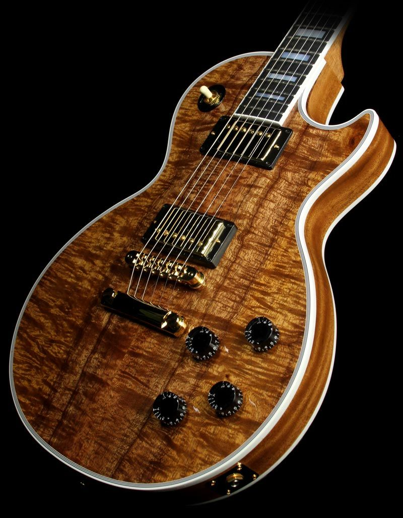 gibson custom shop les paul custom koa top like the white binding accent finishes guitar. Black Bedroom Furniture Sets. Home Design Ideas