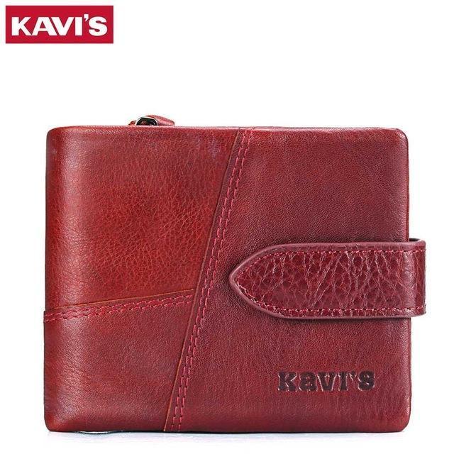 de0a8e816d KAVIS New 100% Genuine Leather Men Wallets Man Famous Small Short ...