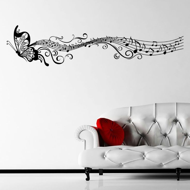 Ebay Musical Butterfly Music Notes Wall Sticker Decal Hanging - Vinyl wall decals butterflies