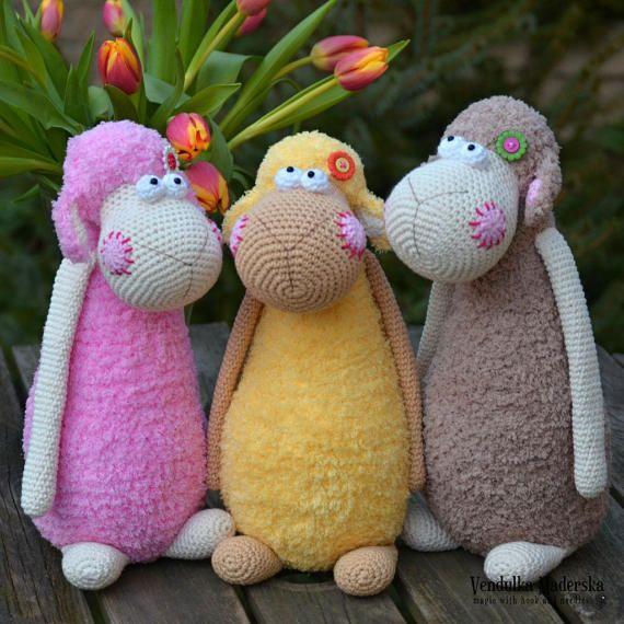 Crochet pattern - Spring sheep by VendulkaM - Easter decoration / Amigurumi/ crochet toy, digital pattern, DIY, pdf #eastercrochetpatterns