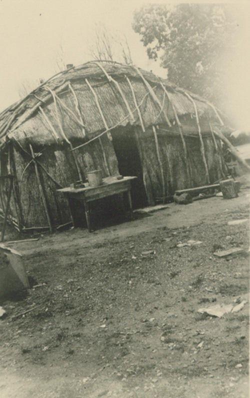 Photo of Pottawatomie Indian dwelling