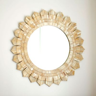Bone Sunburst Mirror Wall Decor Ballard Designs We need a