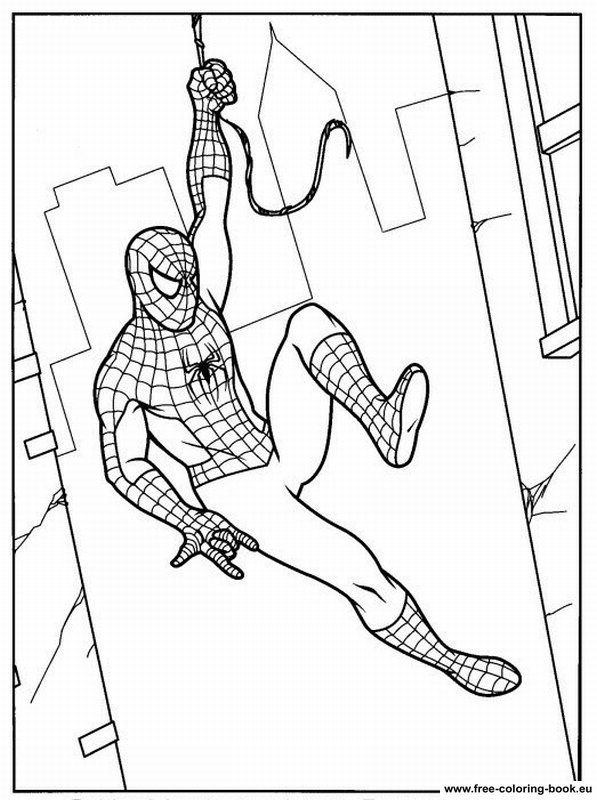 mini coloring pages spiderman - photo#3