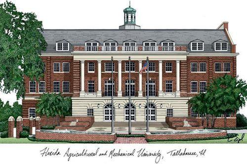 FAMU Florida A&M University Lithograph Print Photo