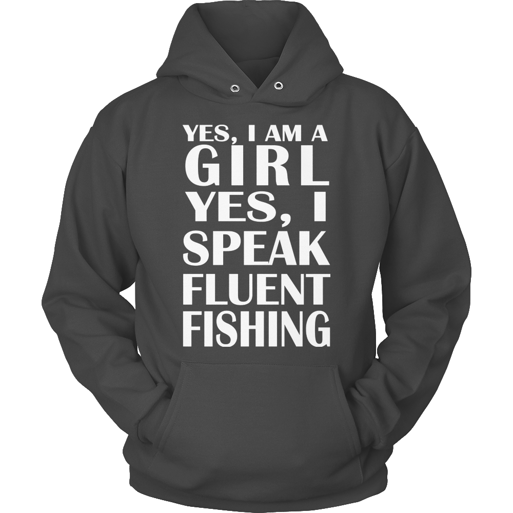 Fishing Speak Fluent Hoodie