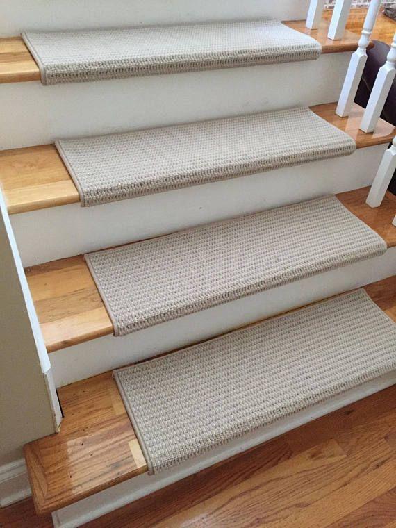 Best Sunrise Evening Cloud 100 New Zealand Wool True Bullnose™ Padded Carpet Stair Tread Runner For 640 x 480