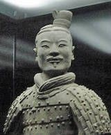 Terracotta Soldier, Qin Dynasty. Xi'an, Shaanxi province in China.