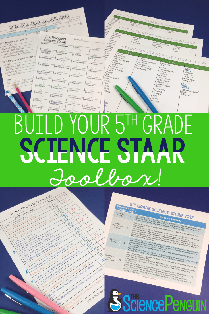 5th Grade Science STAAR for 2018 | Science staar, 5th ...