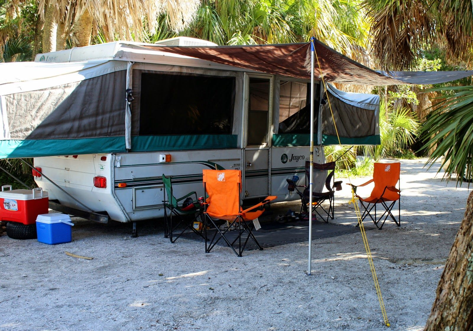 hard camp trailer screen forest a awning river awnings on room pin folding frame trailers for
