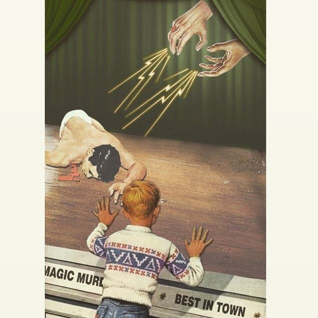 "⭑ 𝐅𝐈𝐃𝐃𝐋𝐄𝐑𝐂𝐑𝐀𝐁 ⭑ on Instagram: ""The Amazing Magic Murder Live Show, Best Show in Town. #collage #collageart #collageartwork #pulp #magic #liveshow #murder #popsurrealism…"""