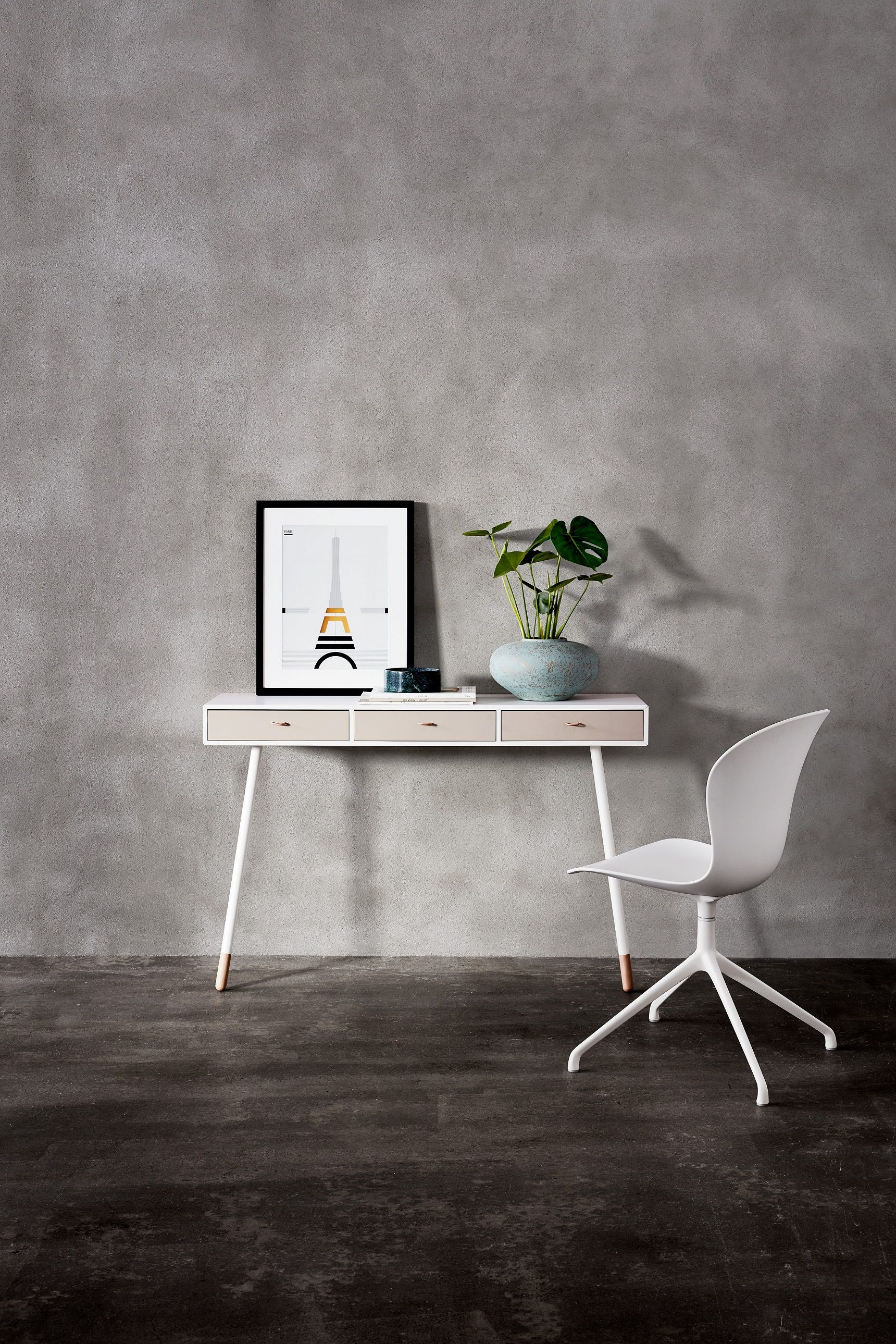 Boconcept Console Console Table And White Chair On Grey Background Furniture