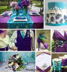 Royal Purple And Turquoise Blue Google Search Peacock Wedding
