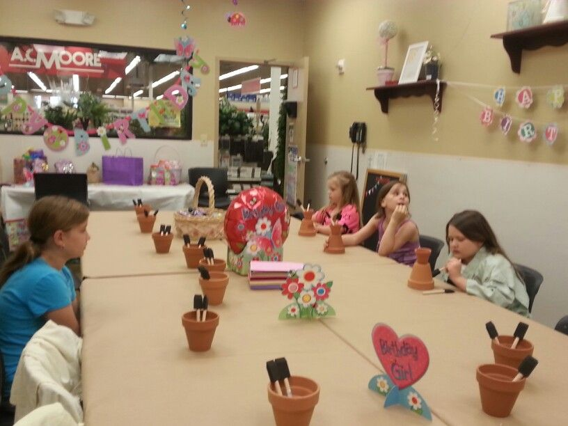 AC Moore craft party | Spring themed birthday party | Ac