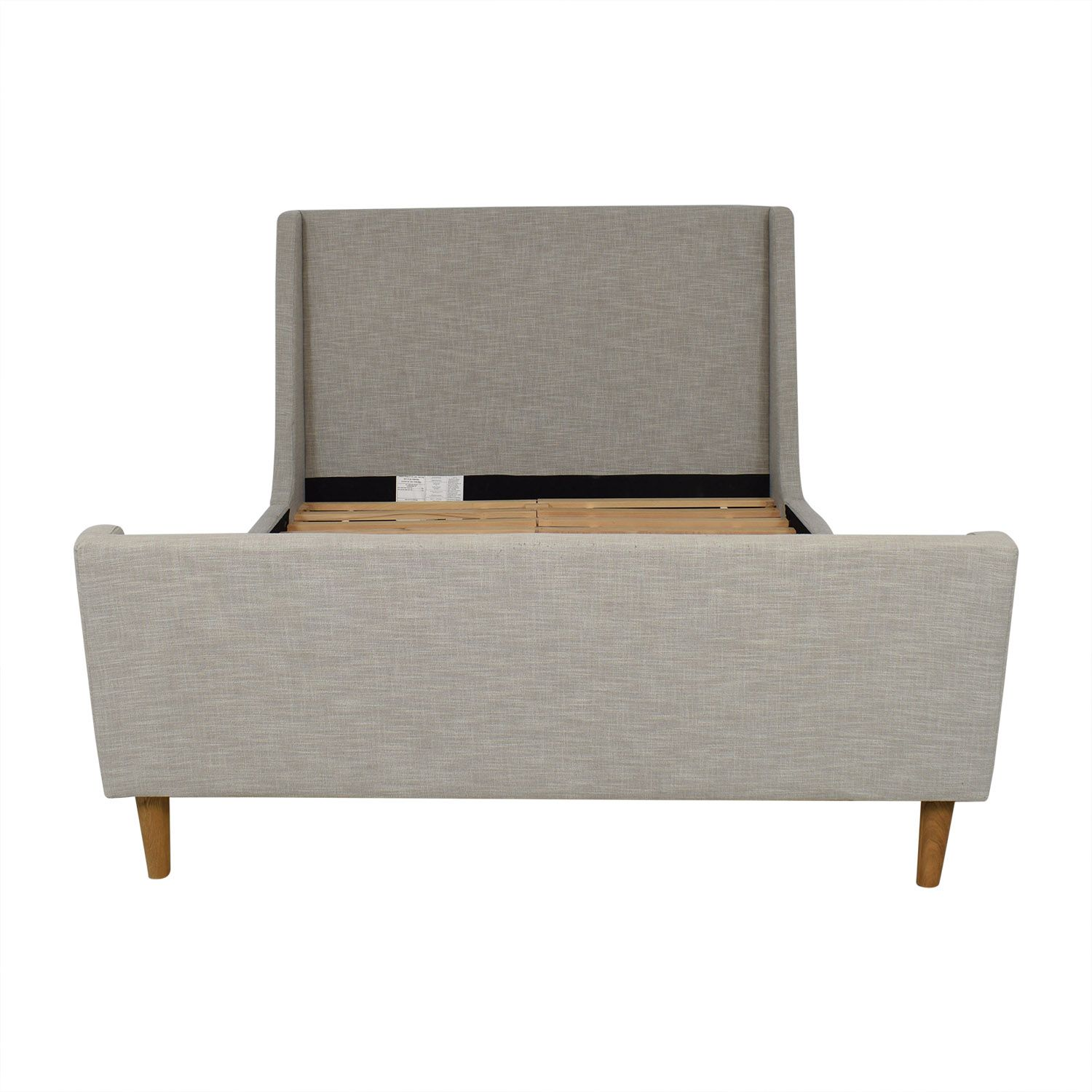West Elm Upholstered Queen Sleigh Bed in 2020 Sleigh